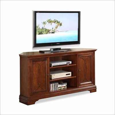 Riverside Furniture Yorktown Corner TV Stand in Vintage Cherry