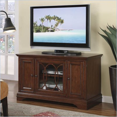 Riverside Furniture Yorktown 48 Inch TV Stand in Vintage Cherry
