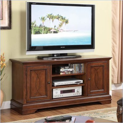 Riverside Furniture Yorktown TV Stand in Vintage Cherry Finish