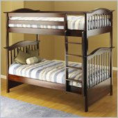 Orbelle 480/39 Wood Twin Over Twin Bunk Bed in Cherry Finish