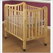 Orbelle Tian Two Level Portable Crib in Natural