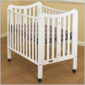 Orbelle Tian Two Level Portable Crib in White