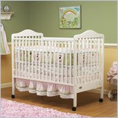 Orbelle Jenny 3-in-1 Convertible Wood Crib in White