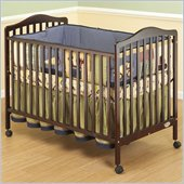 Orbelle Jenny 3-in-1 Convertible Wood Crib in Cherry