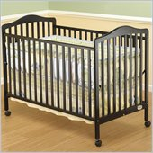 Orbelle Jenny 3-in-1 Convertible Wood Crib in Espresso