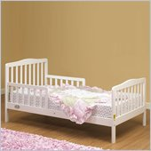 Orbelle Contemporary Solid Wood Toddler Bed in White