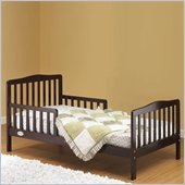 Orbelle Contemporary Solid Wood Toddler Bed in Espresso