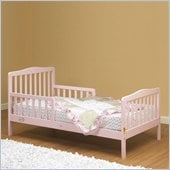 Orbelle Contemporary Solid Wood Toddler Bed in Pink