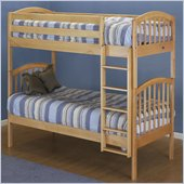 Orbelle 450/39 Wood Twin Over Twin Bunk Bed in Natural Finish
