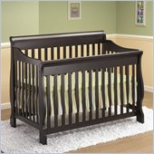 Orbelle 4-in-1 Convertible Wood Crib in Espresso