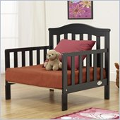 Orbelle Sleepy Time Solid Wood Toddler bed and Lounger in Black