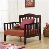 Orbelle Sleepy Time Solid Wood Toddler bed and Lounger in Espresso