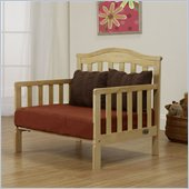 Orbelle Sleepy Time Solid Wood Toddler bed and Lounger in Natural
