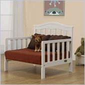 Orbelle Sleepy Time Solid Wood Toddler bed and Lounger in White