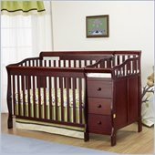 Orbelle Sarah Crib N Bed in Cherry Finish