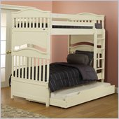 Orbelle Imperial Contemporary Twin Over Twin Bunk Bed in French White