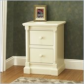 Orbelle Imperial Contemporary 2 Drawer Night Stand in French White