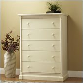 Orbelle Imperial Contemporary 5 Drawer Chest in French White