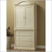 Orbelle Imperial Armoire with 3 Drawer Chest in French White
