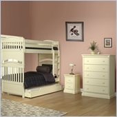 Orbelle Imperial Bunk Bed 3 Piece Bedroom Set in French White