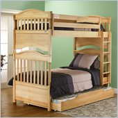 Orbelle Imperial Contemporary Twin Over Twin Bunk Bed in Natural Wood
