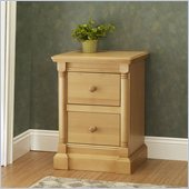 Orbelle Imperial Contemporary 2 Drawer Night Stand in Natural