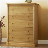 Orbelle Imperial Contemporary 5 Drawer Chest in Natural