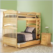 Orbelle Imperial Twin Over Twin Bunk Bed 2 Piece Bedroom Set in Natural Wood