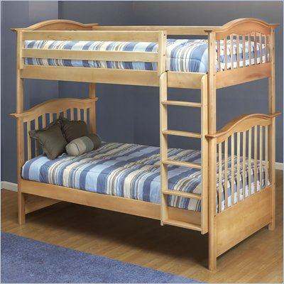 Orbelle 480/39 Wood Twin Over Twin Bunk Bed in Natural Finish 