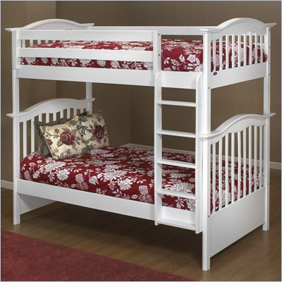 Orbelle 480/39 Wood Twin Over Twin Bunk Bed in White Finish