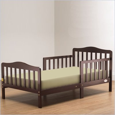 Orbelle Contemporary Solid Wood Toddler Bed in Cherry