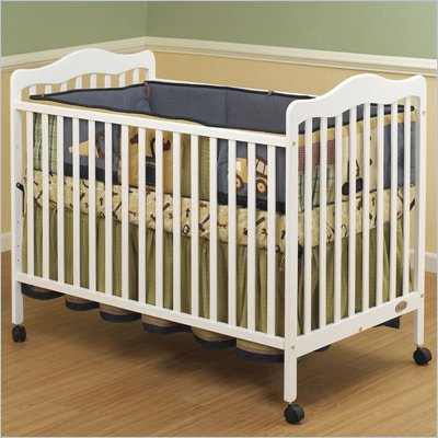 Orbelle Emma 3-in-1 Convertible Wood Crib in White