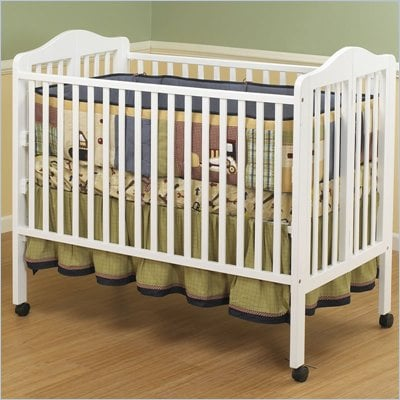 Orbelle Lisa Two Level Full Size Folding Crib in White