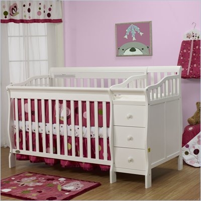 Orbelle Sarah Crib N Bed in White Finish