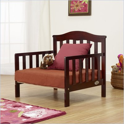 Orbelle Sleepy Time Solid Wood Toddler bed and Lounger in Cherry