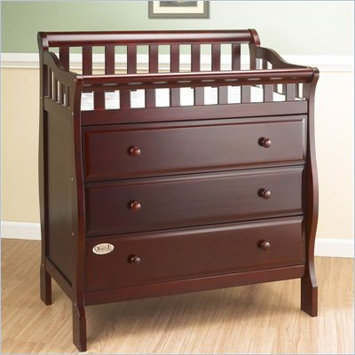 Orbelle 3 Drawer Changing Station in Cherry Finish