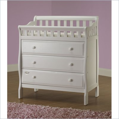 Orbelle 3 Drawer Changing Station in White Finish