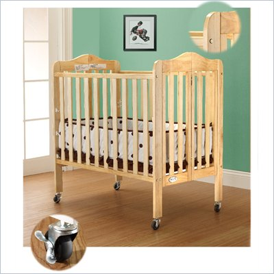 Orbelle Tina Three Level Standard Wood Crib in Natural