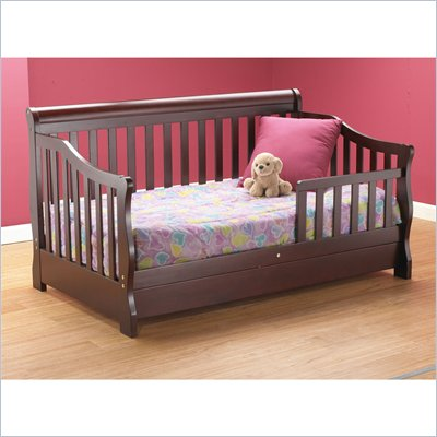 Orbelle Toddler Bed with Storage Drawer in Cherry