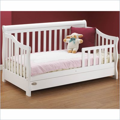 Orbelle Toddler Bed with Storage Drawer in White