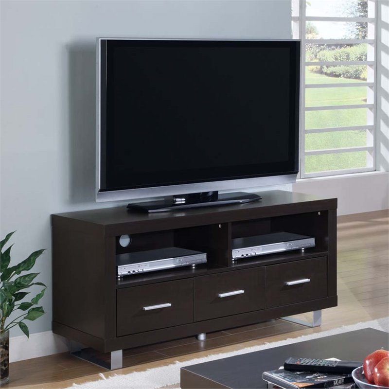 Monarch 48 3 Drawer TV Stand in Cappuccino
