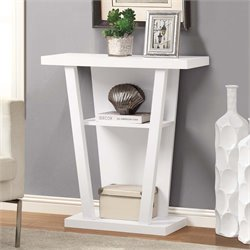 Monarch Accent Console Table in White