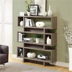 Monarch Modern Bookcase in Dark Taupe