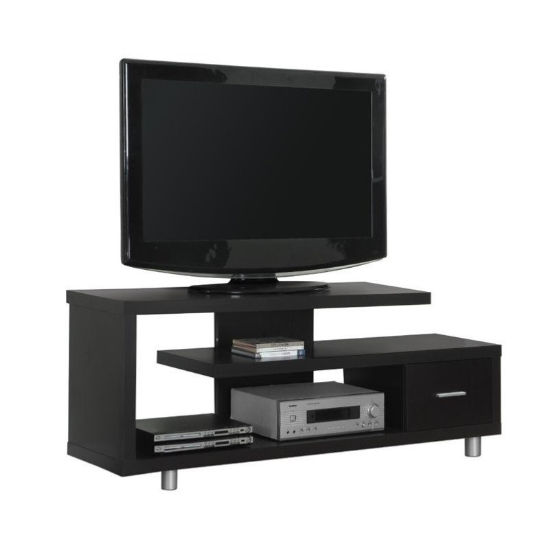 "Monarch 60"""""""" Hollow-core TV Console in Cappuccino"