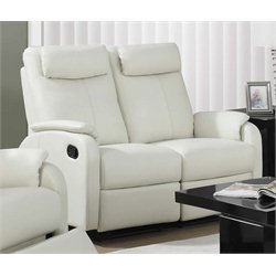 Monarch Leather Loveseat in Ivory