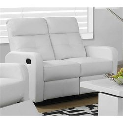 Monarch Leather Loveseat in White