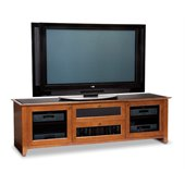 BDI Novia LCD/Plasma Glass Top TV Stand in Natural Stained Cherry
