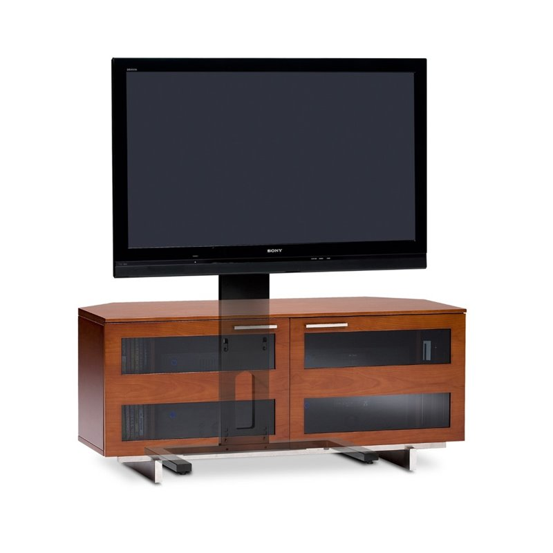 Avion II Cabinet TV Stand in Natural Stained Cherry