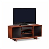 BDI Cirrus Triple-Wide Tall Cabinet TV Stand in Natural Stained Cherry
