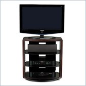 BDI Valera Single Wide 4 Shelf Swivel TV Stand in Espresso Oak